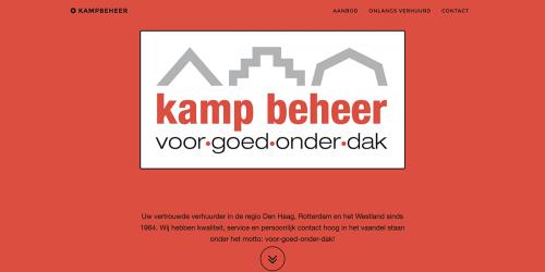 Website Kampbeheer