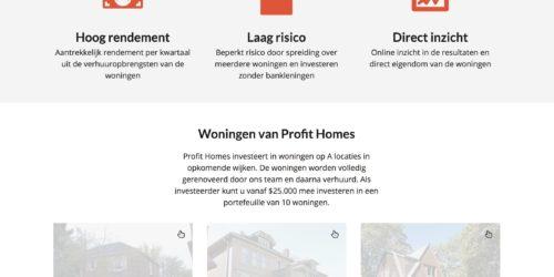 Profit Homes website